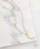 FINAL SALE 14k Gold-Plated Moon & Star Pendant Necklace