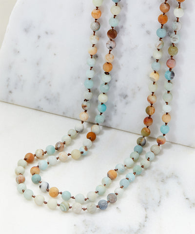 Blue Green Soap Stone Necklace