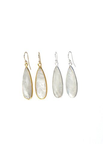 The St. Barth's Earrings Rainbow Moonstone