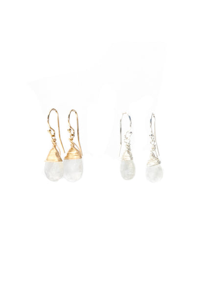 Jill Short Drop Earring in Rainbow Moonstone