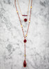 The Diana Necklace in Ruby with Ruby Drop