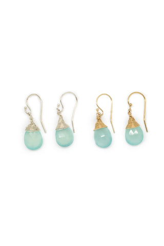 Jill Short Drop Earring in Chalcedony