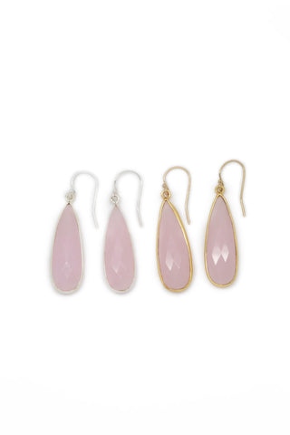 The St. Barth's Earrings Rose Quartz