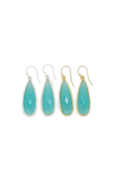 The St. Barth's Earrings Aqua Chalcedony