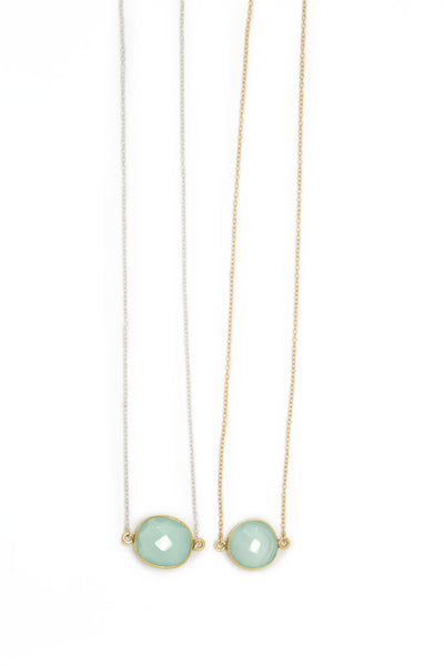 Mrs. Parker Necklace in Blue Chalcedony