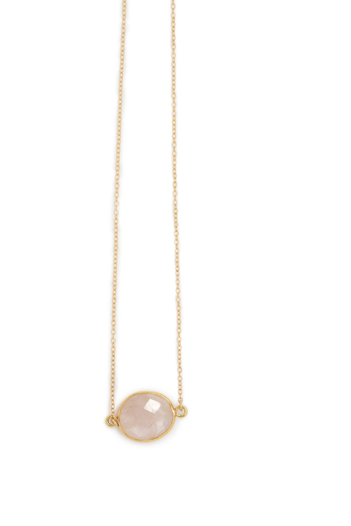 SALE Mrs. Parker Necklace in Rose Quartz