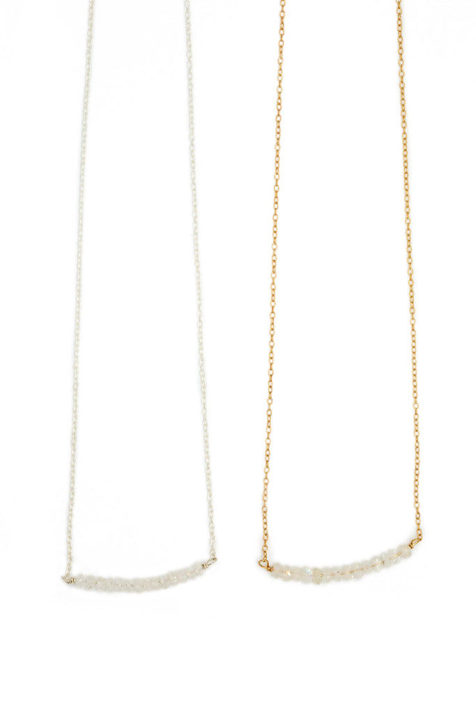 SALE Michelle Bead Bar Necklace in Moonstone