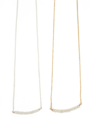 Michelle Bead Bar Necklace in Moonstone