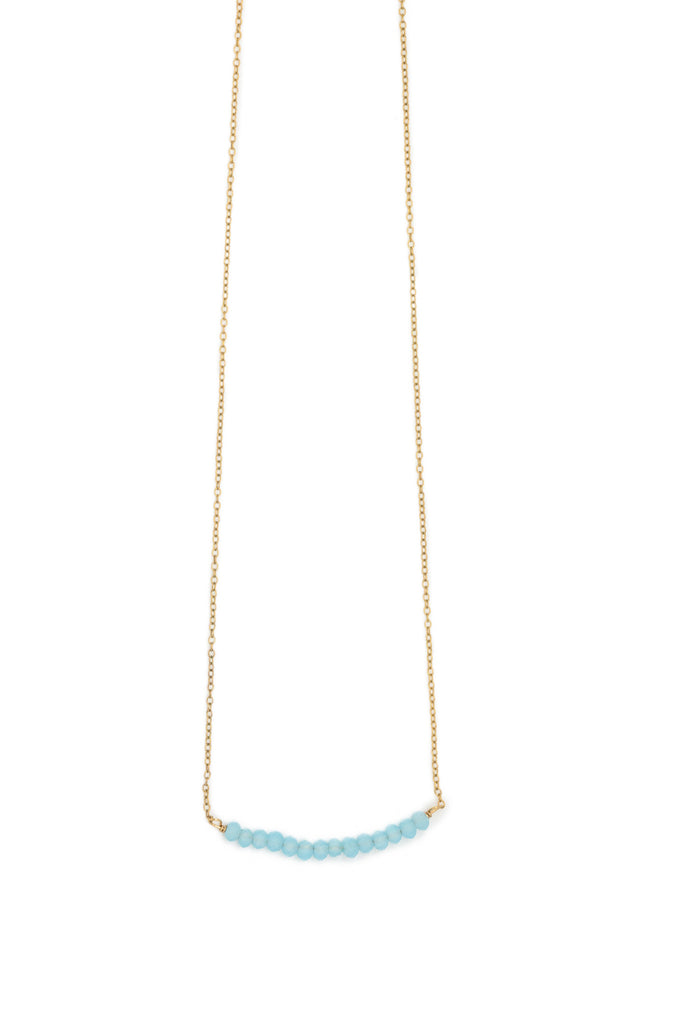 London Bar Chalcedony Necklace