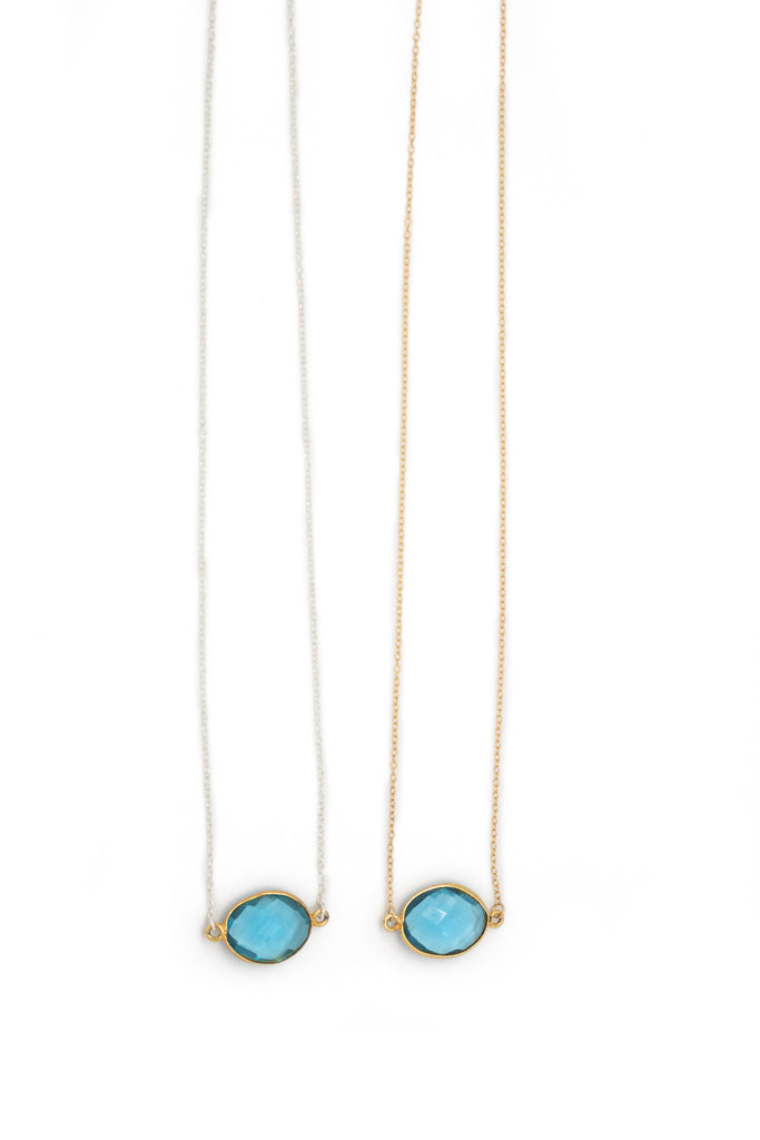 The Mrs. Parker Necklace in Blue Topaz