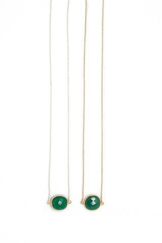 Mrs. Parker Necklace in Green Onyx