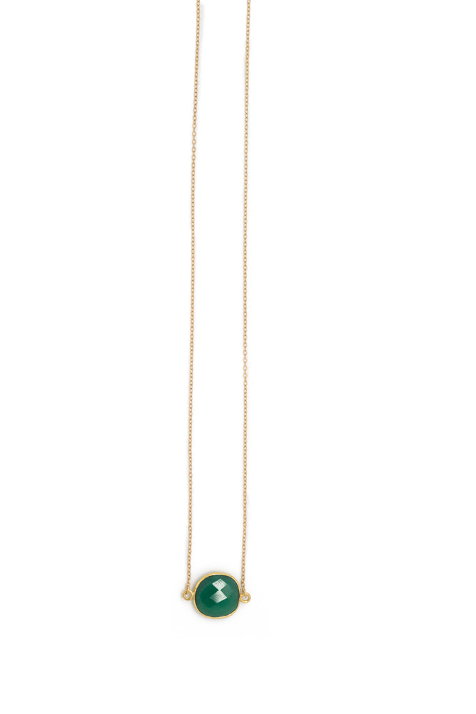 The Mrs. Parker Necklace in Green Onyx