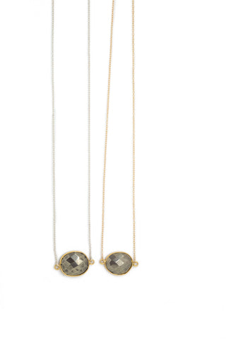 The Mrs. Parker Necklace in Pyrite
