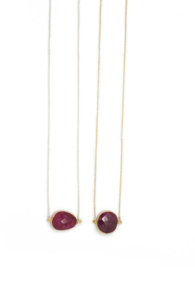 The Mrs. Parker Necklace in Ruby