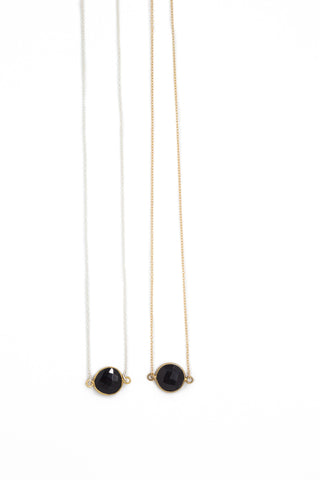 The Mrs. Parker Necklace in Black Onyx