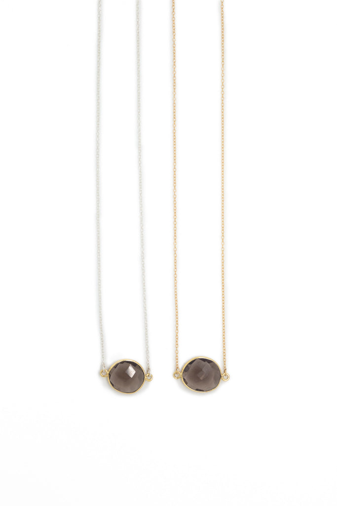 Mrs. Parker Necklace in Smoky Quartz