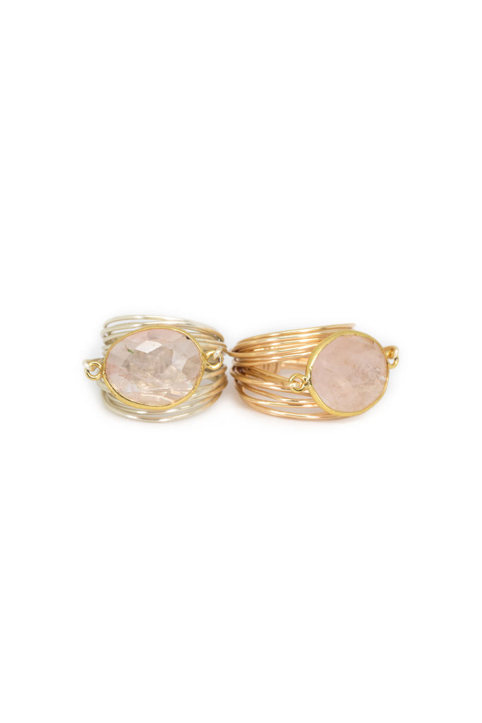 The Torrey Ring in Rose Quartz