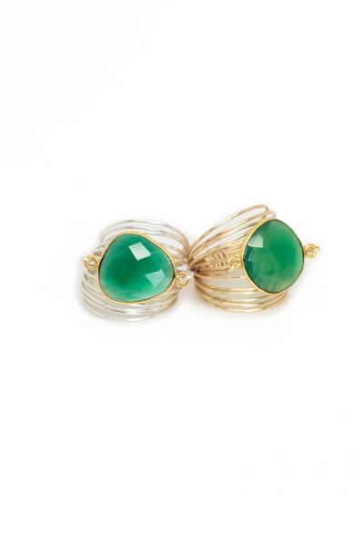 Torrey Ring in Green Onyx