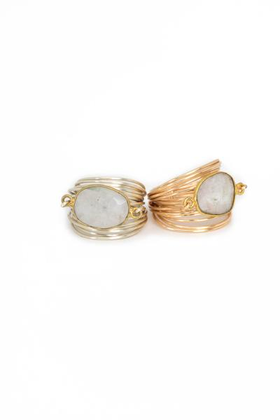 Torrey Ring in Moonstone
