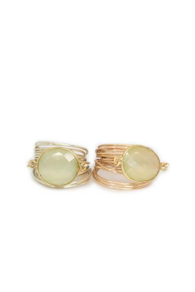 Torrey Ring in Green Chalcedony