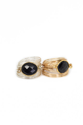 The Torrey Ring in Black Onyx