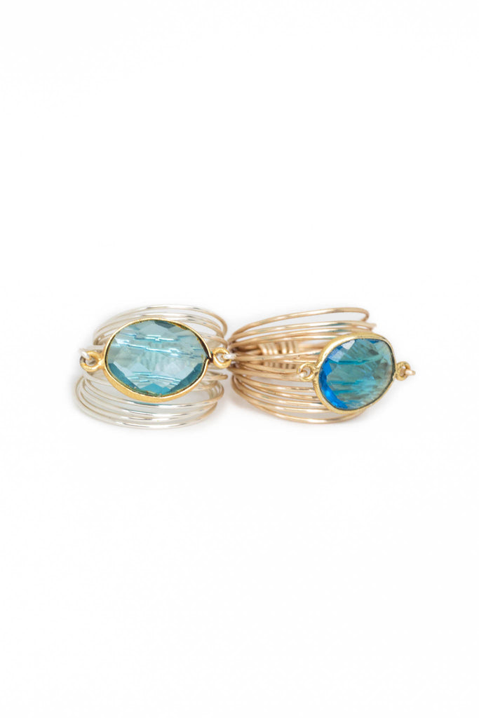 The Torrey Ring in Blue Topaz