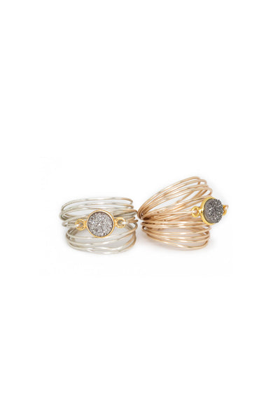 The Torrey Ring in Grey Druzy
