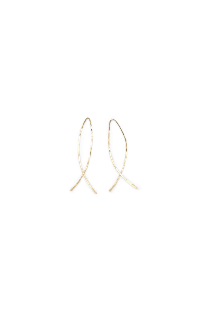 The Fishtail Hammered Wire Earring (2 sizes)