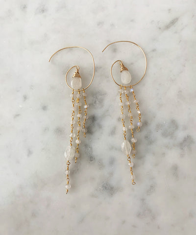 The Jessica Earring Hoop Earring with Moonstone