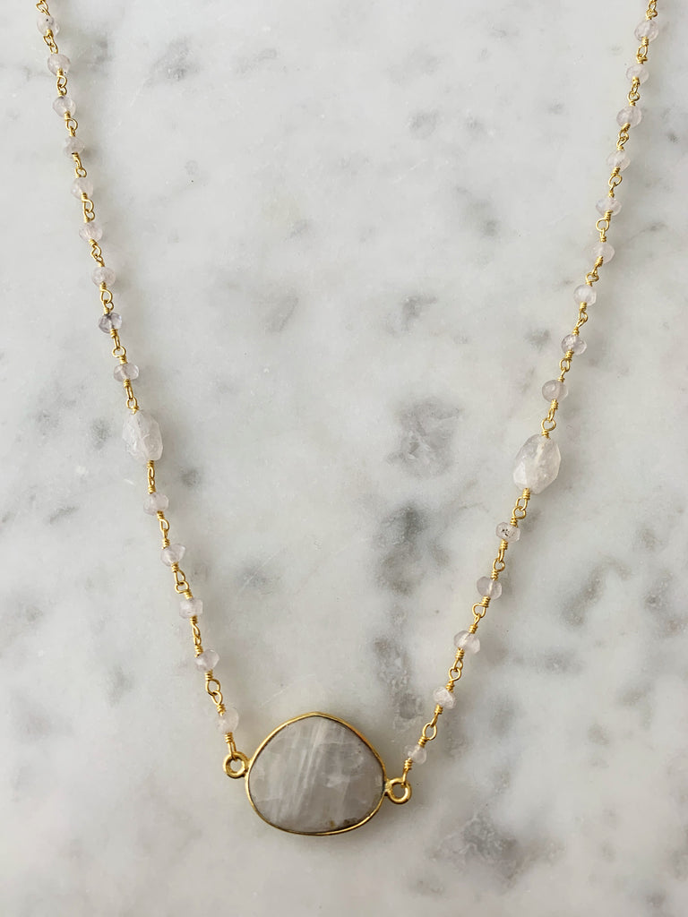 SALE Mrs. Parker Endless Summer Necklace Moonstone Nugget