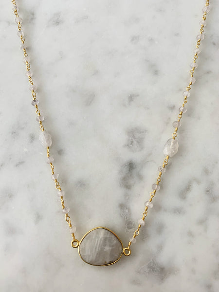 Mrs. Parker Endless Summer Necklace Moonstone Nugget