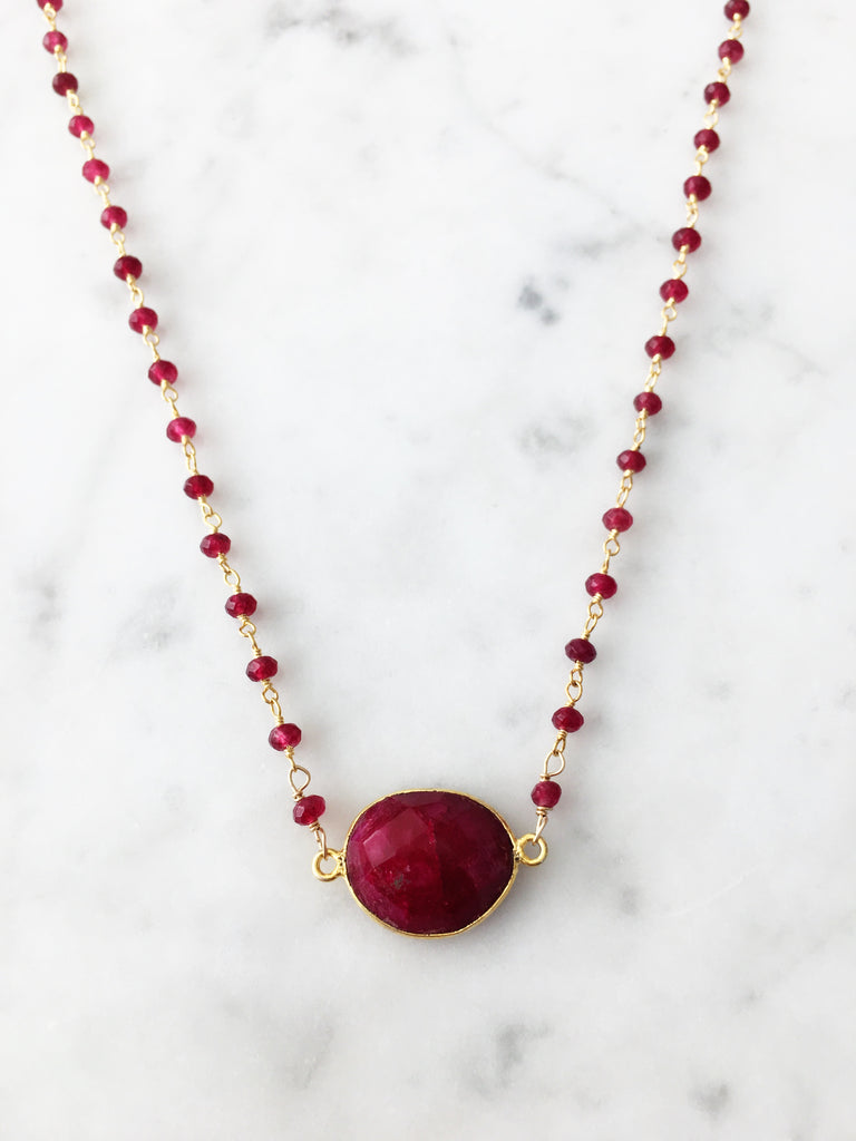 Mrs. Parker Endless Summer Necklace Ruby