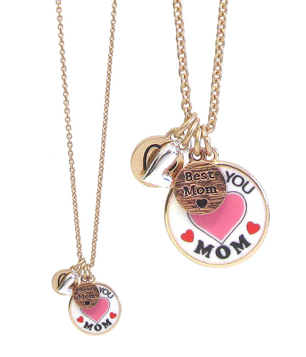 A Blonde and Her Bag Multi Charm Mom Necklace