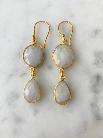Rome Earrings Moonstone