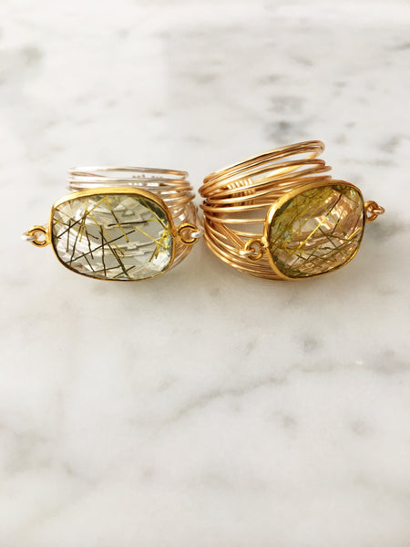 Torrey Ring in Golden Rutilated Quartz