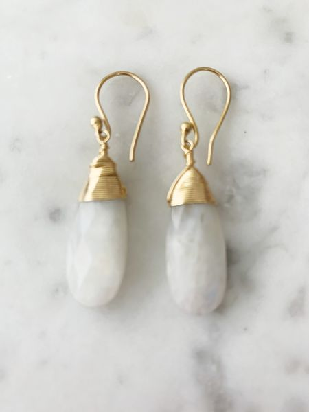 Moonstone Jill Drop Extra Long Earring