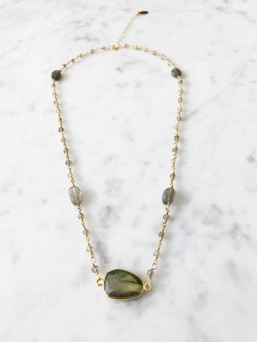 Mrs. Parker Endless Summer Necklace Labradorite