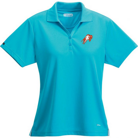 Womens Turquoise Polo Shirt