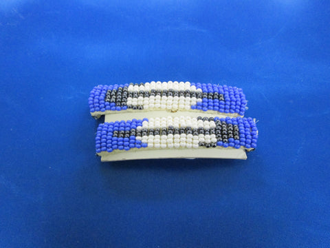 Blue Arrow Barrettes