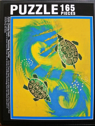 Swimming Turtle Lakota Art Jigsaw Puzzle