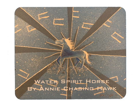 Water Spirit Horse Mouse Pad