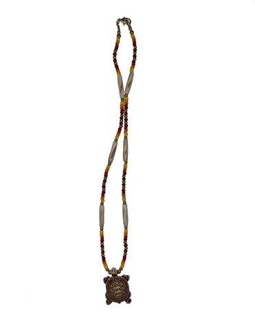 Beaded Necklace with a Turtle