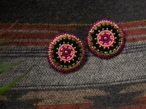 Rosette Post Earrings