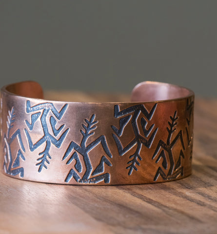 Copper Harvest Wide Cuff
