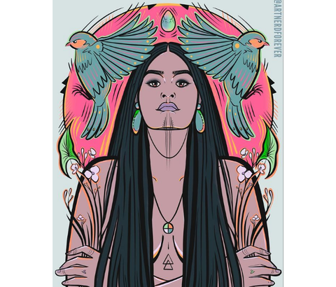 Digital Totem Illustration-Ancestral