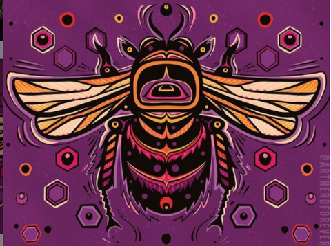 Digital Totem Illustration- Bee