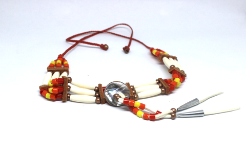 Orange, Yellow and Red 3-Bone Choker