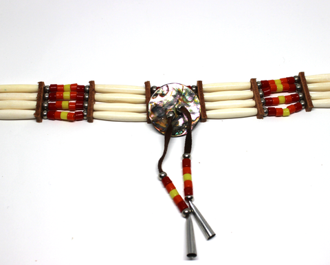 Red, Yellow, and Orange 4 Bone Choker