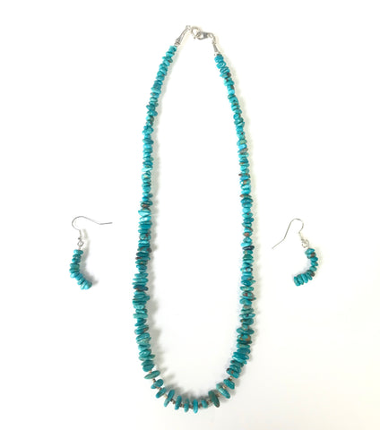 Chinese Turquoise Necklace with earrings