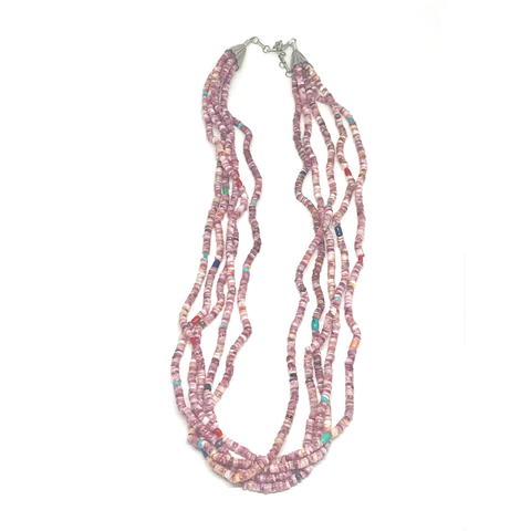 Purple and Pink Spiny Oyster Necklace